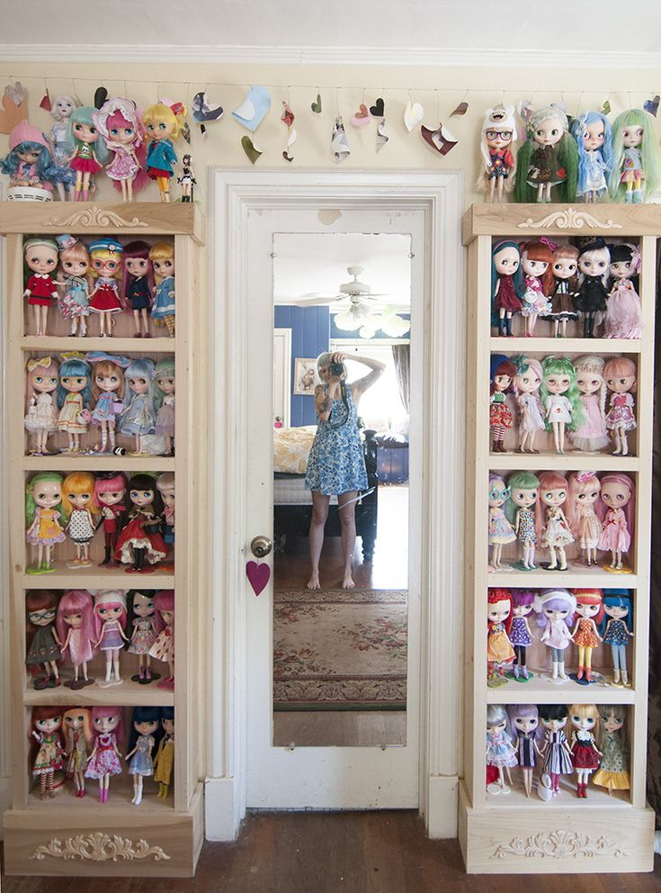 Sherri Bemis' amazing doll collection! http://www.abeautifulmess.com/2013/09/at-home-with-sherri-bemis.html: