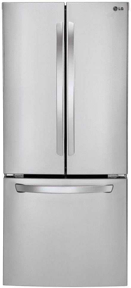 LG LFC22770S 30 Inch French Door Refrigerator with 21.6 cu. ft. Capacity, 4 Spill Protector Tempered Glass Shelves, Gallon Door Storage, Smart Cooling System, 2 Crisper Bubs, LoDecibel Quiet Operation, Ice Maker and Energy Star Rated