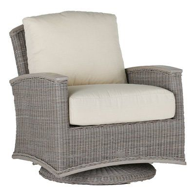 Summer Classics Astoria Swivel Glider Chair with Cushions Fabric: Melange Linen Texture Stone