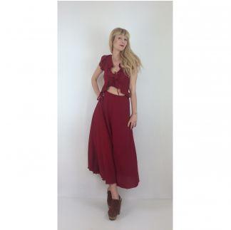Kırmızı Gypsy Elbise Red Gypsy Dress