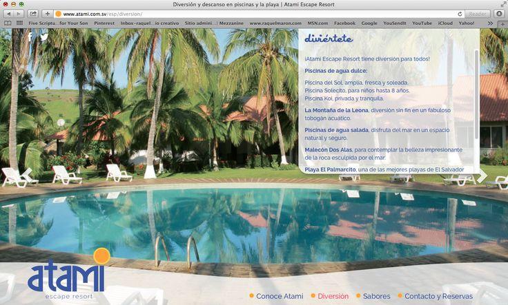 website atami escape resort, diversión, 2014. ®raquel marón estudio creativo