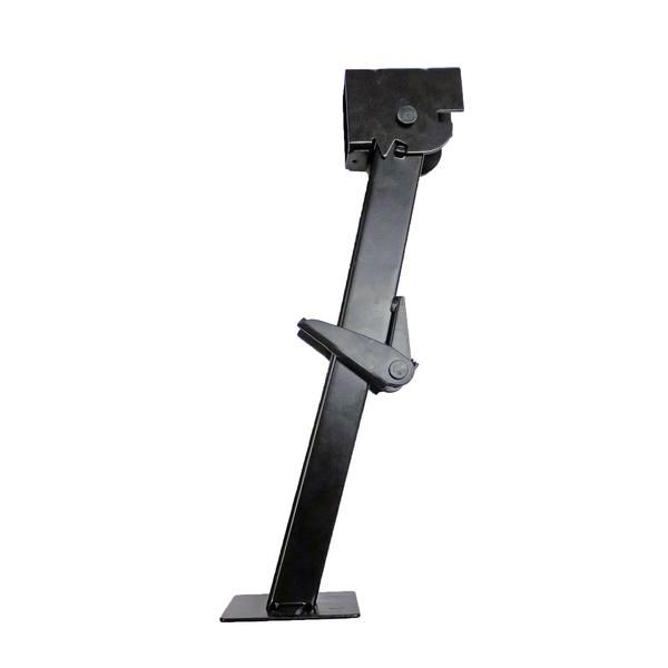 """Part #: OTP-TSJ Description: 1 (One) Folding and retractable 650 lb. trailer stabilizer jack. Specs: Retracted Length (collapsed): 11-1/2"""" Extended Length: 17-3"""