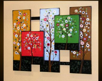 Abstract Wood Art Paintings Sculpture Modern by AmyGiacomelli