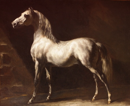 Theodore Gericault (1791-1824), Cheval Arabe Gris-blanc, Before 1824, Beaux-Arts Museum in Rouen, France