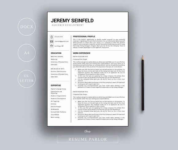 Resume Template | A4 + US Letter