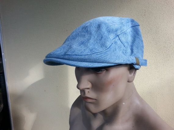 newsboy flat cap denim gatsby baker boy hipster by youareoutthere