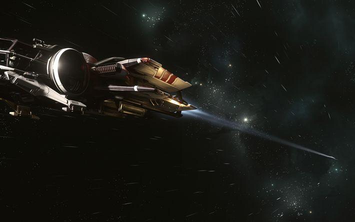 Download wallpapers Star Citizen, 4k, spaceship, 2018 games
