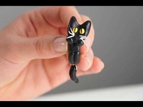 Fimo Tutorial: come realizzare orecchini a forma di gatto - YouTube