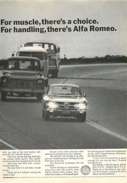 1970 Alfa Romeo GT Veloce Muscle Ad