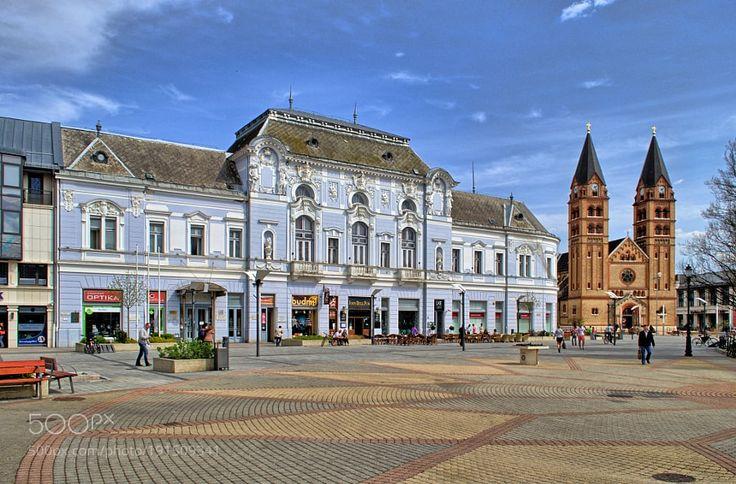 Hotel Korona and Catholic Church (Nyíregyháza - Hungary) by fotozen_66