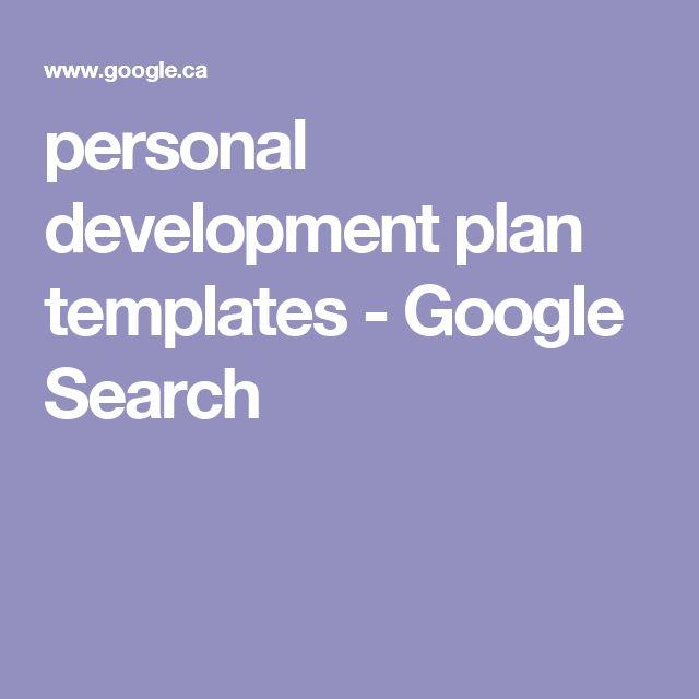 personal development plan templates - Google Search Personal - development plan templates