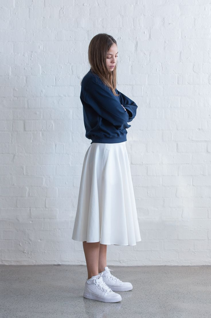 TAKE CARE / Billow Skirt in Ivory