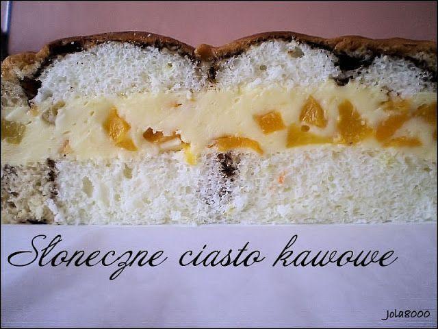 Ciasta, ciastka, ciasteczka.... Słodka chwila zapomnienia: Słoneczne ciasto kawowe