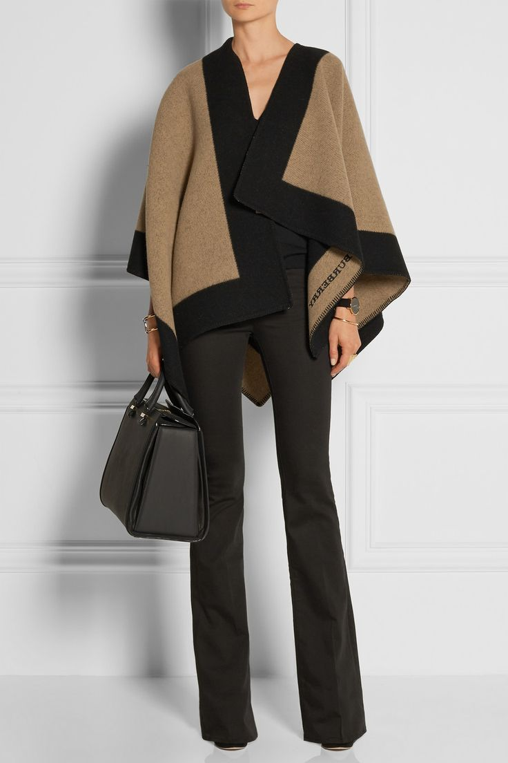 Burberry Shoes & Accessories | Two-tone wool and cashmere-blend cape | NET-A-PORTER.COM