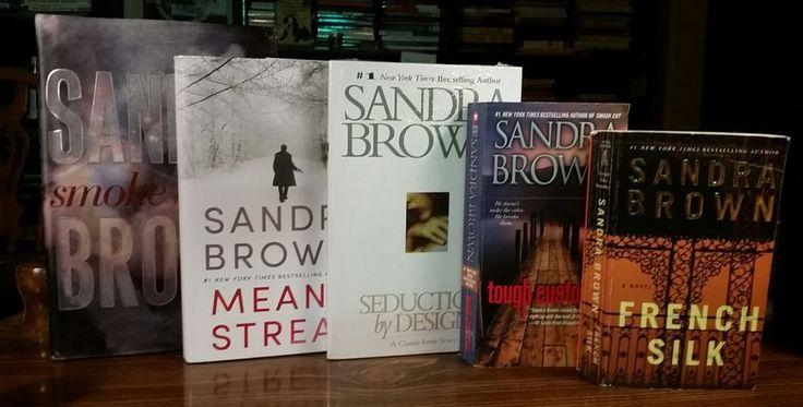 LOT of 5 Books by Sandra Brown - Mean Streak, Seduction by Design, Smoke Screen