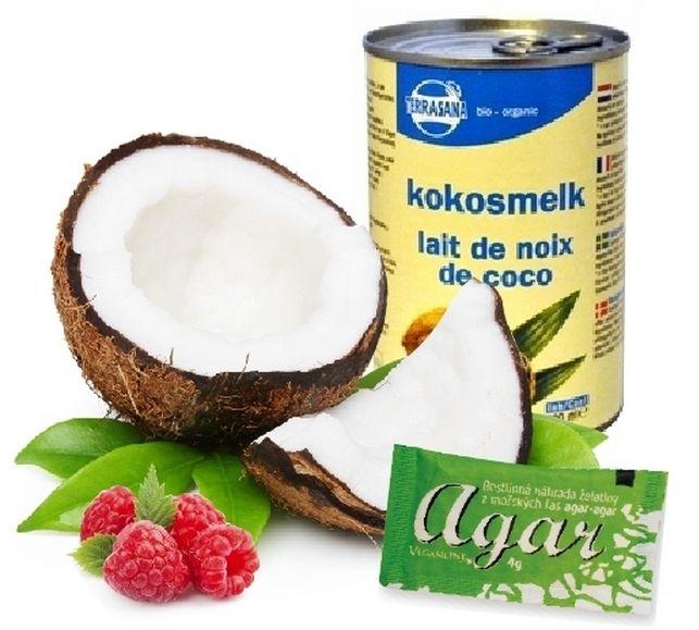 Malinovo-kokosový dezert | zdravé potraviny, zdravá výživa, nápoje, vegan, přírodní kosmetika, eko, drogerie, výprodej, novinky, Klub Bioobchod, vegetariásnké potraviny, raw potraviny, raw, bio, bez lepku, veganline