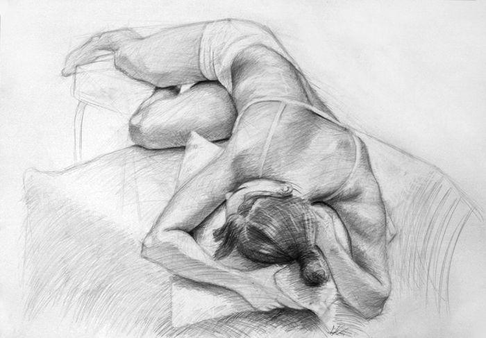 Girl #girl #pencil #pose #girlwoman #pencildrawing #academic #art