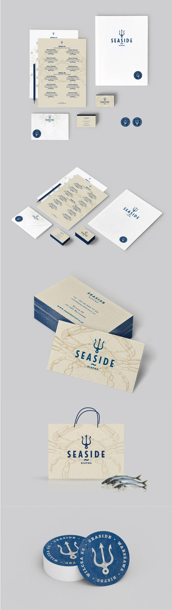 Unique Brand Identity Design on the Internet, Seaside Bistro #brandidentity #branding #identitydesign