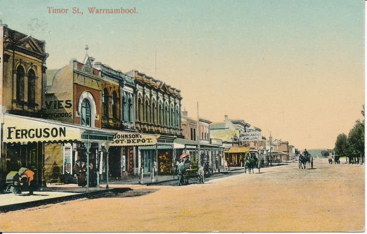 Timor Street, Warrnambool shown at a time when the main challenge for parking was finding a spot to leave your horse and cart! This week's #PostcardThursdays is from the Gold Museum's FitzGerald Collection which has 30,000 postcards!!  #Warrnambool #History #Postcard