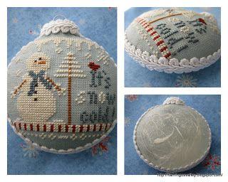 """"""" Its Snow Cold""""Ornament #8 2012 LHN."""