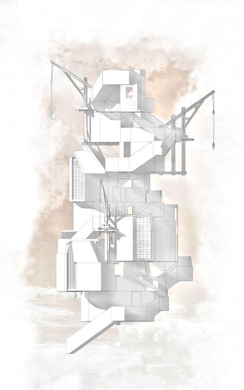 Northumberland Hostel [TOWER 1] Concept Elevation Thomas Savage