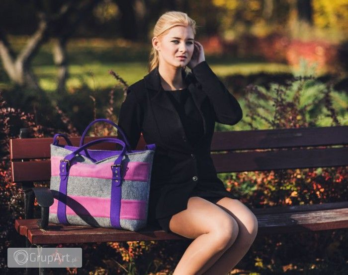 Grupart.pl - Kolorowo - Amaranth & Violet - Torebki - Na ramię