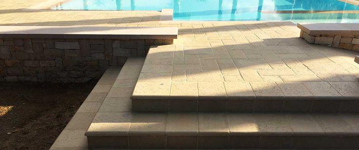 Gradini acaya - Primiceri Manufatti srl - Pavimenti, rivestimenti per interno ed esterno, cucine in murature in pietra naturale ricostruita