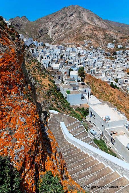 Serifos, Hora, stairs - #visitgreece #greece