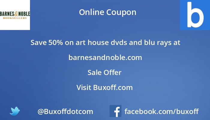 Latest barnes-and-noble Coupon on Buxoff Visit to know more