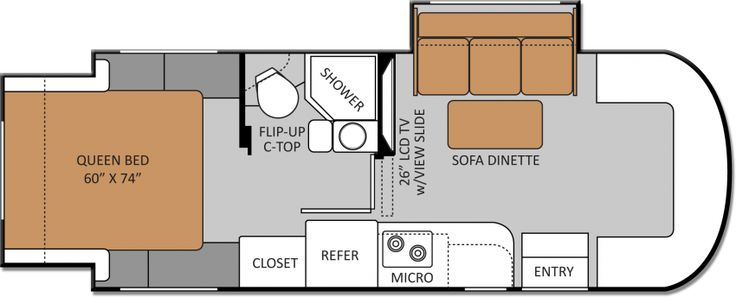 Mercedes Sprinter Floor Plan: Love The 2 Slide-outs.... 24SR: Class C Diesel Motorhomes