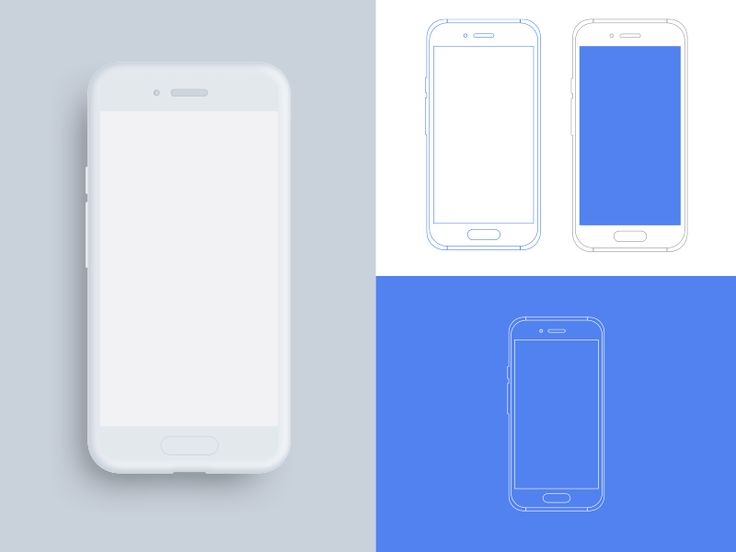 Android Device Outline Mockups Android Mockup Phone Mockup Mockup Templates