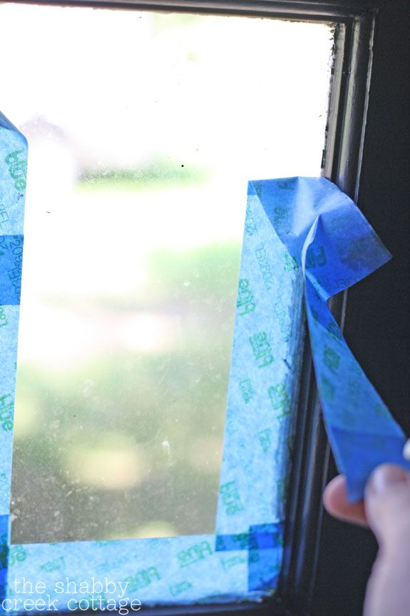 Tips for Taping Window Panes | The Shabby Creek Cottage