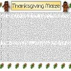 "This Thanksgiving ""Maize"" is a great pre-class warm up or fun activity for early finishers...."