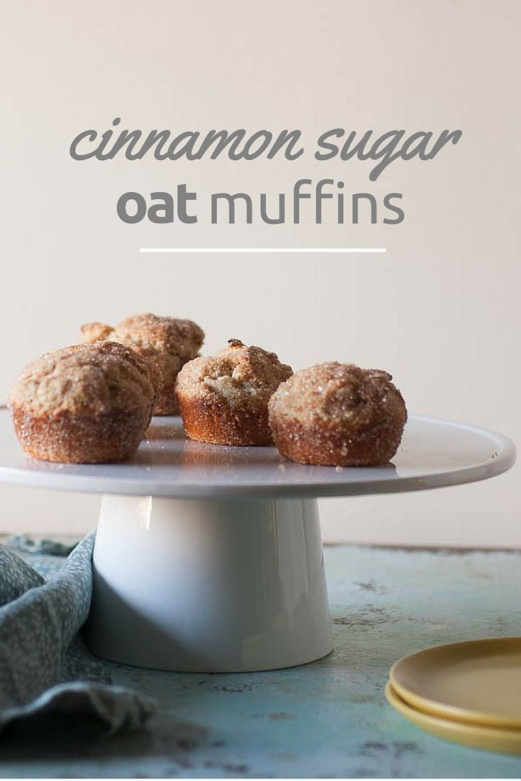 -kissed oat flour muffins rolled in cinnamon and sugar. Like donuts ...