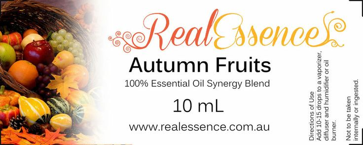 AUTUMN FRUITS, Essential oil Synergy Blend 100% pure and natural oil 10ml bottle