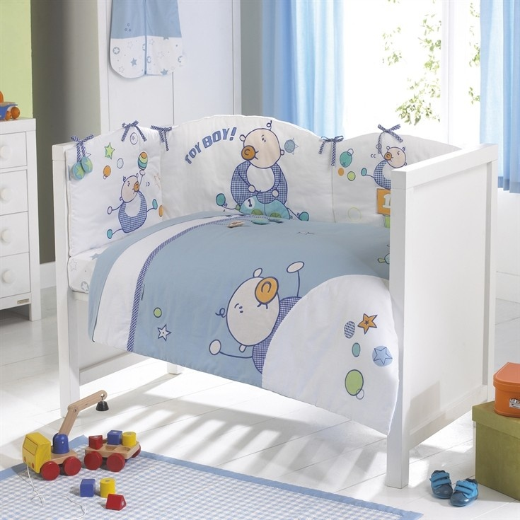 Look For Izziwotnot Goochicoo Toy Boy 5 Piece Quilt Bedding Bale Cot Bed Price Now