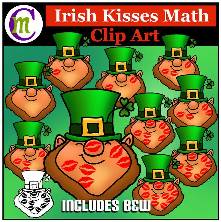 Lucky Irish leprechaun counting clipart