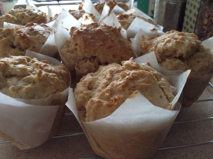 Muffins de avena y canela
