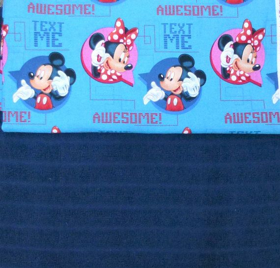 Mickey and Minnie Mouse Royal Blue Kitchen Terry Towel Set of