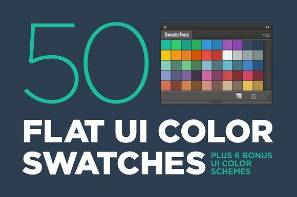 50 Flat UI color swatches @creativework247