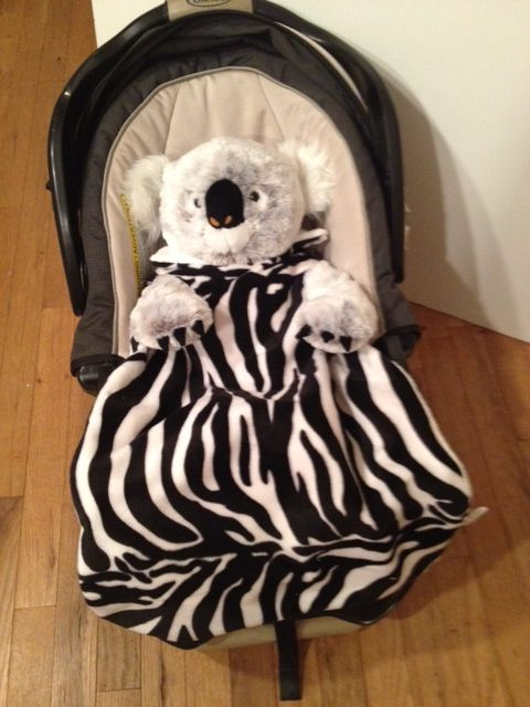 NEW! Animal Print Blanklet - <br />Blanklets…. Safety and Comfort for your baby.
