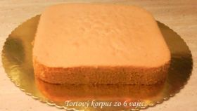Fotorecept: Dortový korpus ze 6 vajec