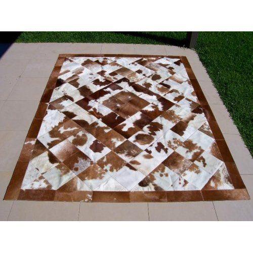 NEW COWHIDE PATCHWORK RUG Cow Hide Skin Carpet: Home