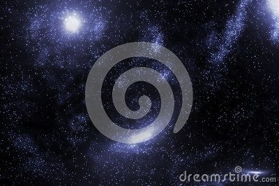 Stars and galaxy space starry sky night background. Universe filled with stars illustration