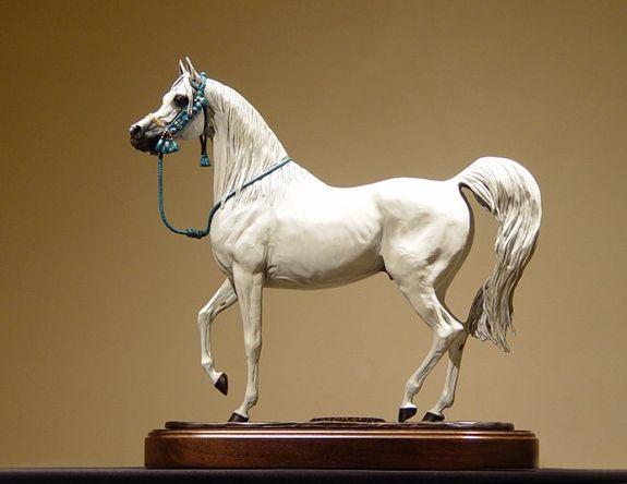 Karen Kasper, amazing arabian horse sculptor #Arabians #art