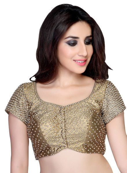 Magnificent Copper Party-Wear Saree Blouse KP-48 | Saris and Things