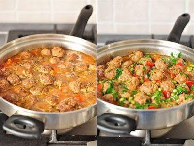шеф-повар Одноклассники: Обалденное овощное рагу с фрикадельками