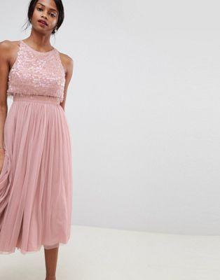 dbfd0f4a9ec281 DESIGN embellished droplet midi dress i 2018