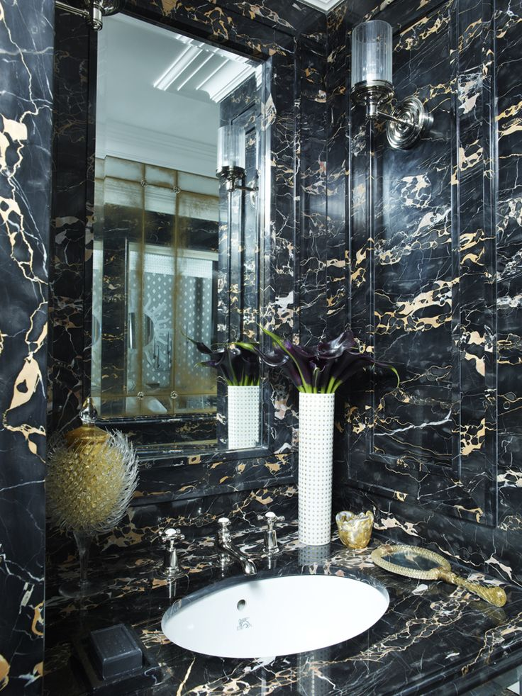 Images Photos Black marble with gold streaks