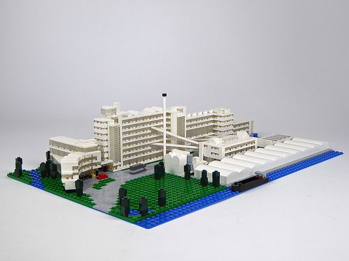 van nelle factory van nellefabriek a large modernist facotry in rotterdam by architects j brinkman and l lego model by hans flier